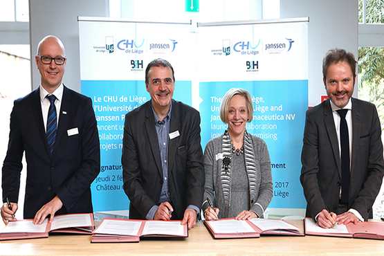 Led by B2H, the CHU de Liège and the ULg have launched their collaboration with Janssen Pharmaceutica